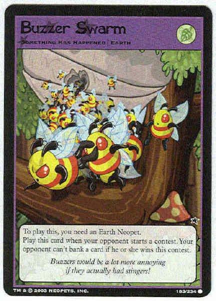 Neopets CCG Base Set #183 Buzzer Swarm Game Card
