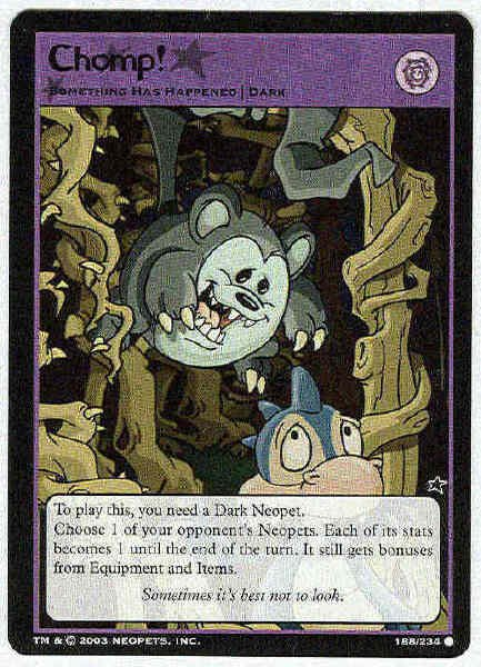 Neopets #188 Chomp! Game Card Unplayed