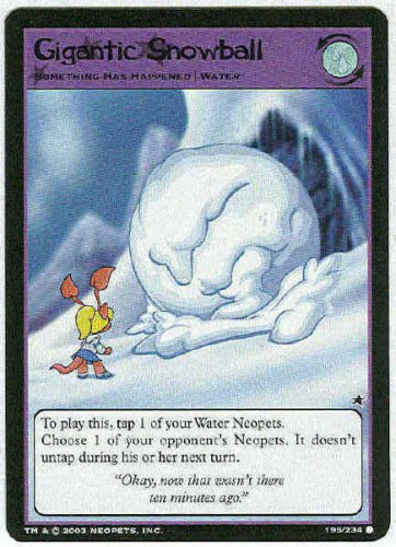 Neopets CCG Base Set #195 Gigantic Snowball Game Card