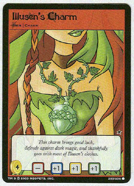 Neopets #203 Illusen's Charm Game Card Unplayed
