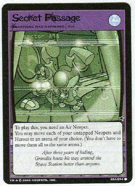 Neopets CCG Base Set #224 Secret Passage Game Card