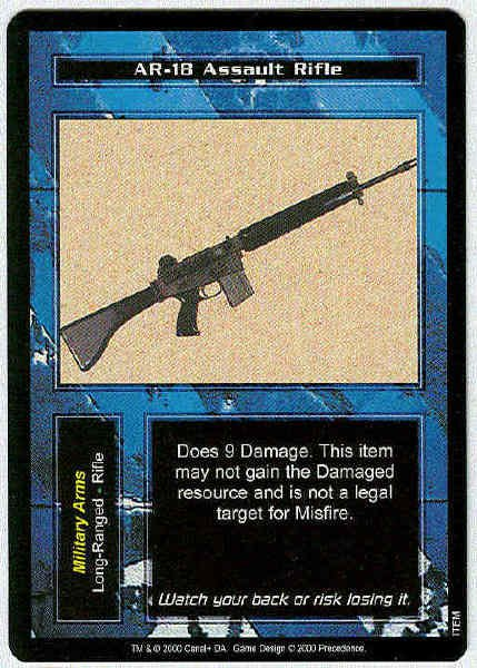 Terminator Ccg Ar 18 Assault Rifle Rare Game Card Unplayed