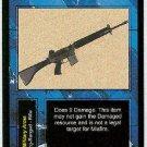 Terminator CCG AR-18 Assault Rifle Rare Game Card Unplayed