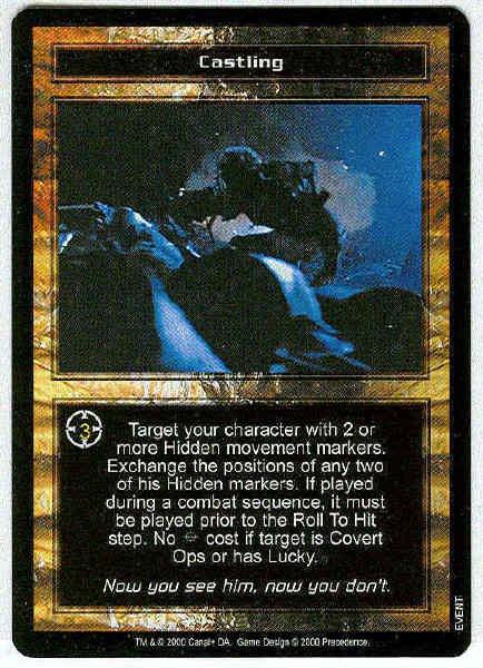 Terminator CCG Castling Precedence Rare Game Card