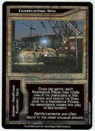 Terminator CCG Construction Site Rare Game Card