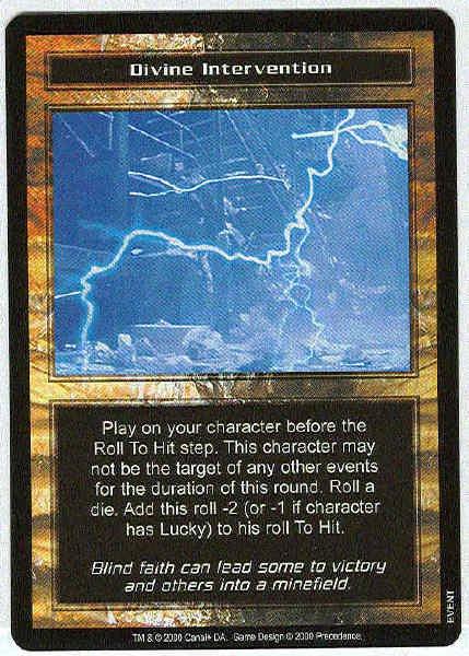 Terminator CCG Divine Intervention Rare Game Card Unplayed