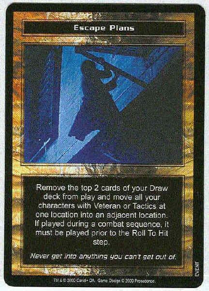 Terminator CCG Escape Plans Precedence Rare Game Card