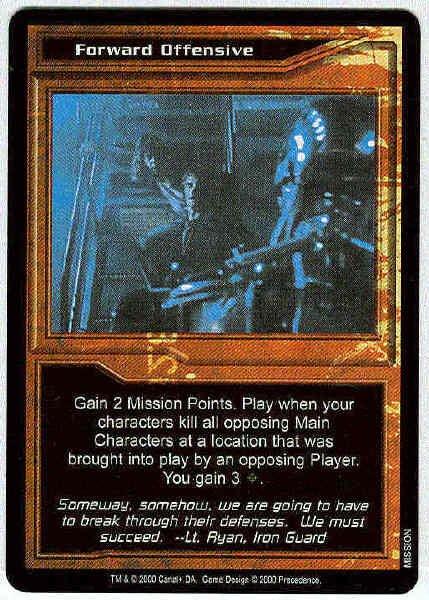 Terminator CCG Forward Offensive Rare Game Card