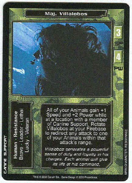 Terminator CCG Maj. Villalobos Rare Game Card Unplayed