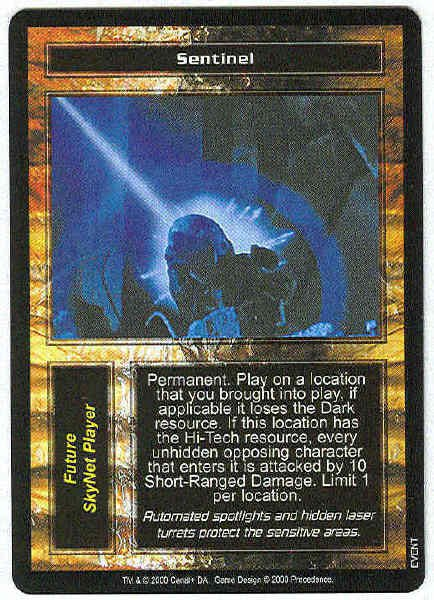 Terminator CCG Sentinel Precedence Rare Game Card