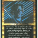 Terminator CCG Blood Splatter Game Card Unplayed