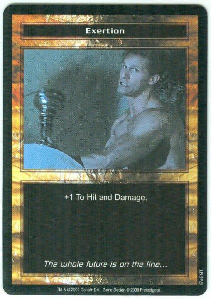 Terminator CCG Exertion Precedence Game Card Unplayed