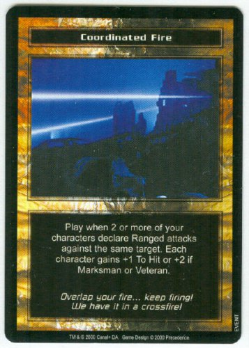 Terminator CCG Coordinated Fire Precedence Game Card