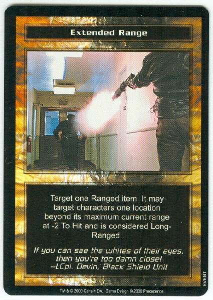 Terminator CCG Extended Range Game Card Unplayed