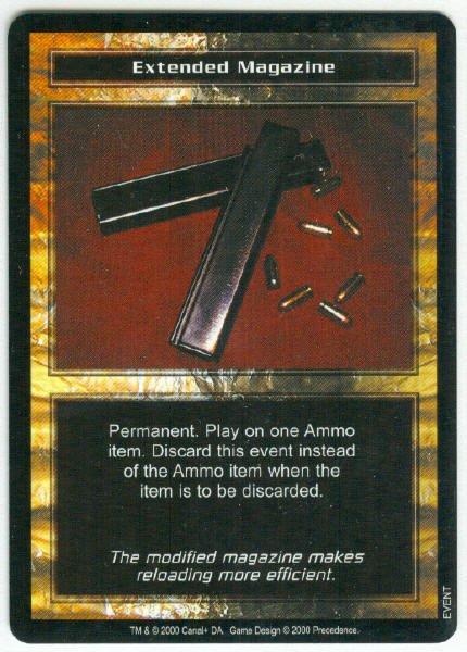 Terminator CCG Extended Magazine Precedence Game Card