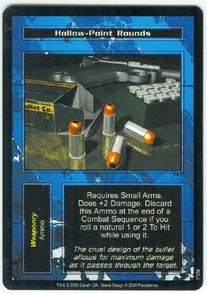 Terminator CCG Hollow-Point Rounds Precedence Game Card Unplayed