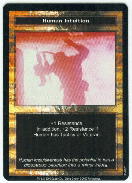 Terminator CCG Human Intuition Precedence Game Card Unplayed