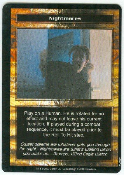 Terminator CCG Nightmares Precedence Game Card Unplayed