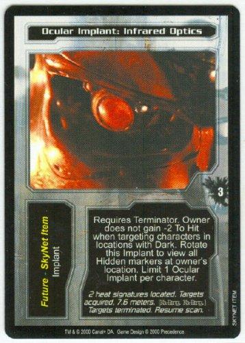 Terminator CCG Ocular Implant Infrared Optics Game Card