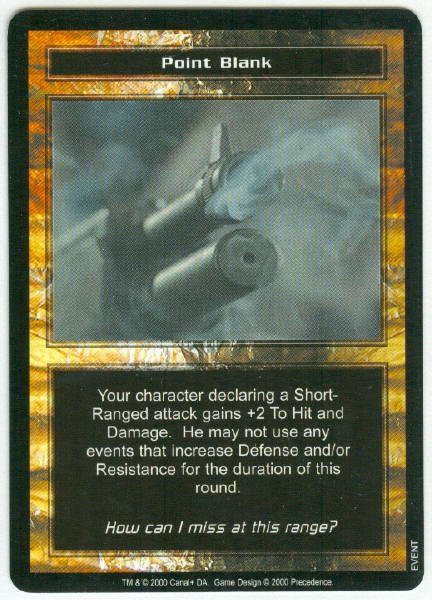 Terminator CCG Point Blank Game Card Unplayed
