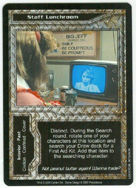 Terminator CCG Staff Lunchroom Game Card Unplayed