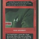 Star Wars CCG Imperial Code Cylinder Premiere Limited Game Card