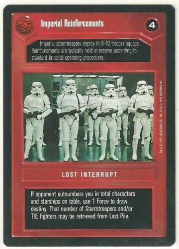 Star Wars CCG Imperial Reinforcements Premiere Limited Game Card