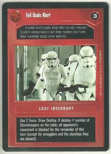 Star Wars CCG Full Scale Alert Premiere Limited Uncommon Game Card