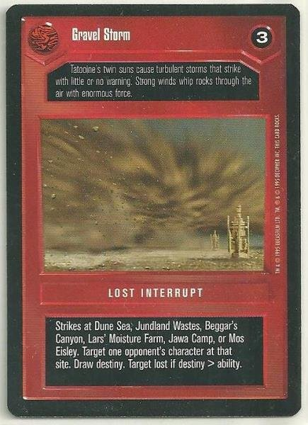 Star Wars CCG Gravel Storm Uncommon DS Game Card Unplayed