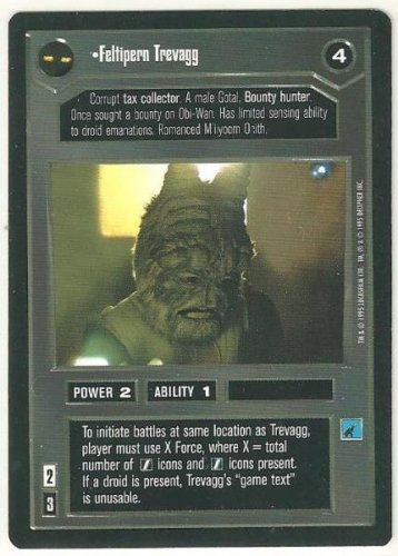 Star Wars CCG Feltipern Trevagg Premiere Limited Uncommon Game Card