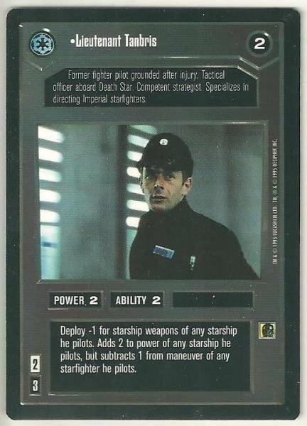 Star Wars CCG Lieutenant Tanbris Uncommon DS Card Unplayed