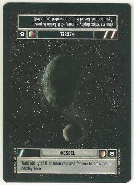 Star Wars CCG Kessel Premiere Limited Uncommon Dark Side Game Card