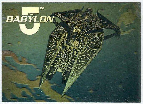 Babylon 5 Ultra 1995 Fleer #3 Hologram Card Warship