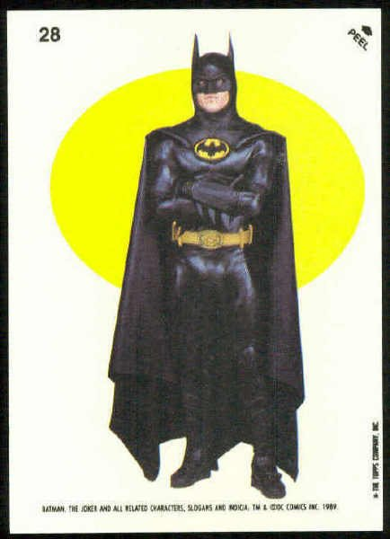 Batman 1989 Topps #28 Puzzle Sticker Trading Card