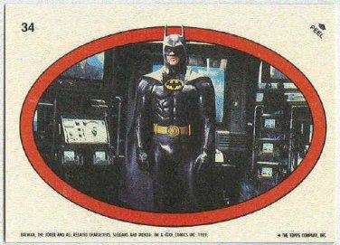 Batman 1989 Topps #34 Puzzle Sticker Trading Card