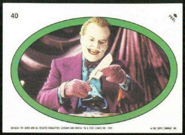 Batman 1989 Topps #40 Puzzle Sticker Trading Card