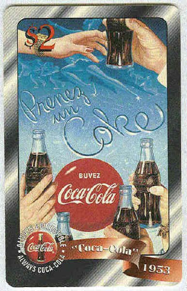 Coca Cola Sprint Fon 96 #44 $2 Phone Card