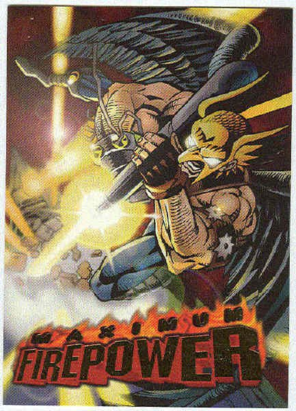 DC Outburst #4 Maximum Firepower Embossed Chase Card