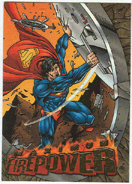 DC Outburst #6 Maximum Firepower Embossed Chase Card