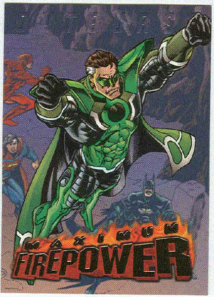 DC Outburst #17 Maximum Firepower Embossed Chase Card