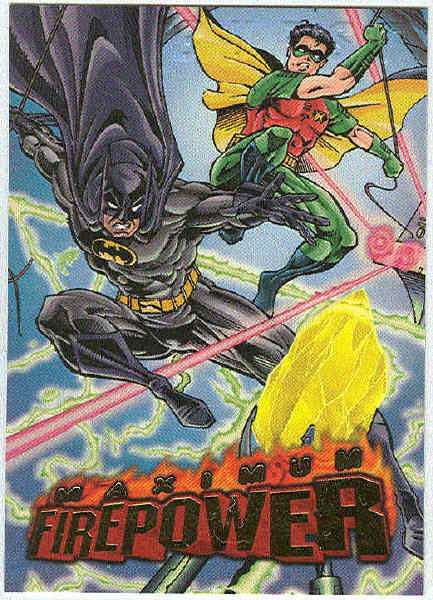 DC Outburst #18 Maximum Firepower Embossed Chase Card