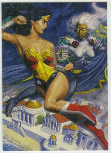DC vs Marvel Holo F/X #12 Wonder Woman Chase Card