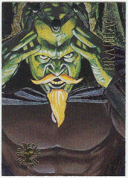 DC Villains Gathering of Evil #GE8 Foil Card Brainiac