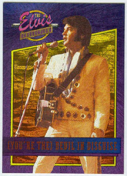 Elvis Presley 1992 Dufex Foil Card #35 Devil In Disguise
