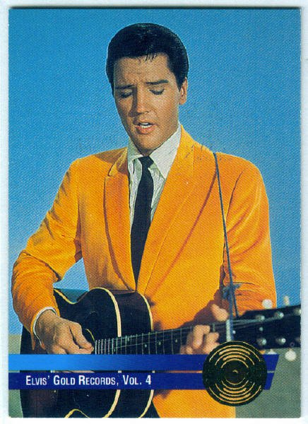 Elvis Presley 1992 #5 Gold Record Foil Trading Card