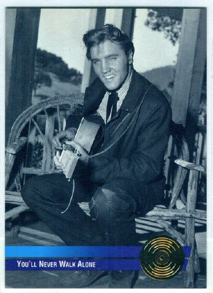 Elvis Presley 1992 #9 Gold Record Foil Trading Card
