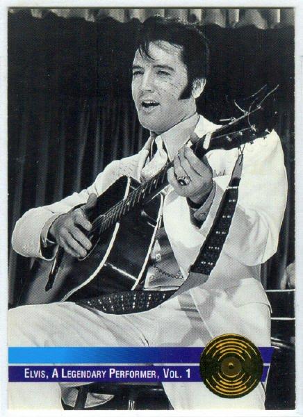 Elvis Presley 1992 #11 Gold Record Foil Trading Card