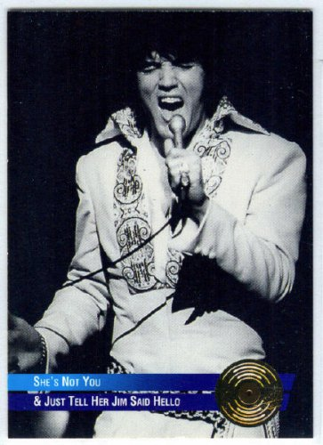 Elvis Presley 1992 #40 Gold Record Foil Trading Card