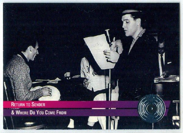 Elvis Presley 1992 #36 Platinum Record Foil Trading Card