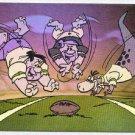 Flintstones NFL #H1 Hologram Card Fred, Barney and Dino